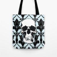 Skull Print Tote Bag