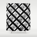 Black and White Tapes 45 Shower Curtain