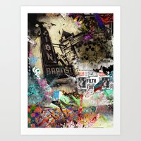 Mixed media Art Print