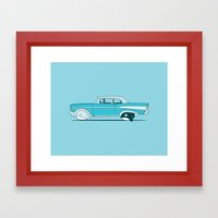 Reinventing the whale Framed Art Print