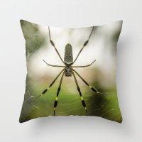 Autumn Spider Throw Pillow