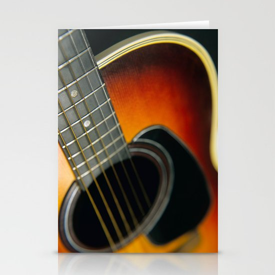 Guitar Stationery Card