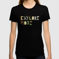 Explore More. Womens Fitted Tee Black SMALL