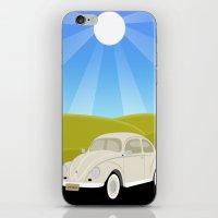 Retro Volkswagen Bug - Sunrise iPhone & iPod Skin