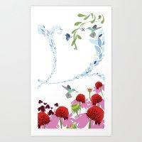 Meadow Triptych Part 3 Art Print