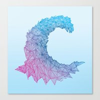 Crystal Wave Canvas Print