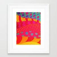 THE FASHIONISTA - Bright… Framed Art Print