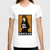 Seville Womens Fitted Tee White SMALL