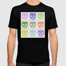 quilt of grrr (born to die). SMALL Mens Fitted Tee Black