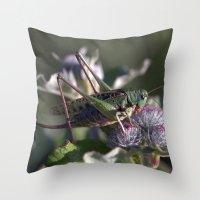 Grasshopper 4110 Throw Pillow