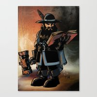 The Dwarven Cleric Canvas Print