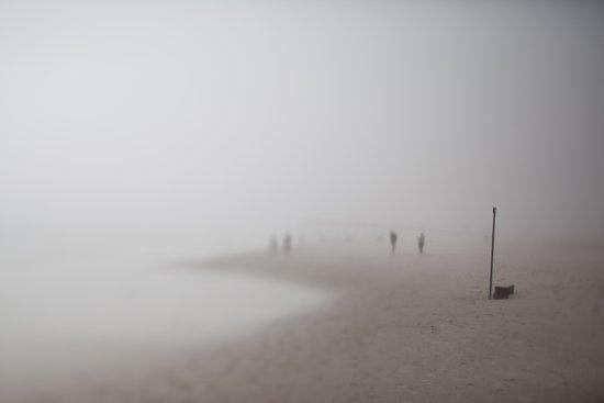 Fog on the Beach, Ocean City, NJ Art Print