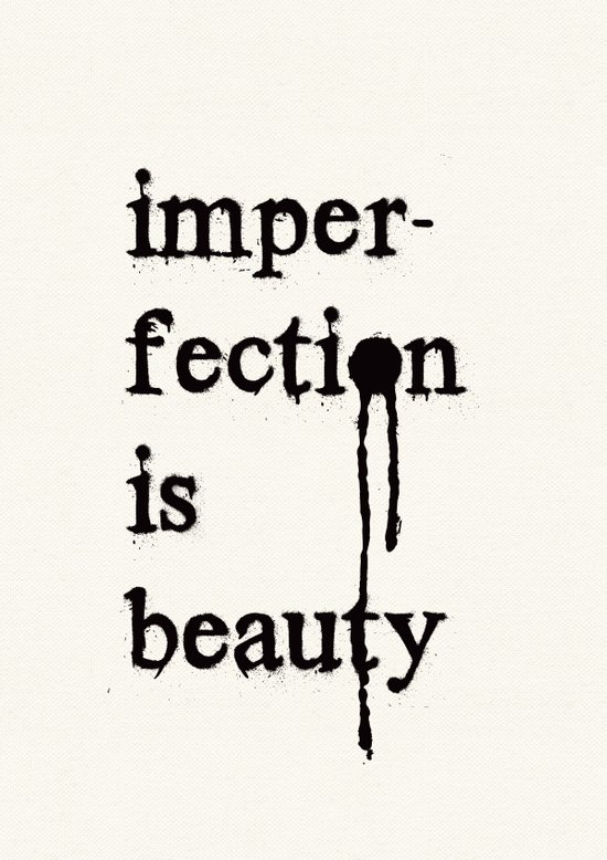 Imperfection is Beauty Canvas Print