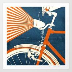 Bicycle Light Art Print