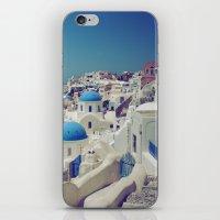 Blue Domes, Oia, Santori… iPhone & iPod Skin