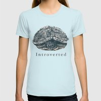 Introverted Womens Fitted Tee Light Blue SMALL