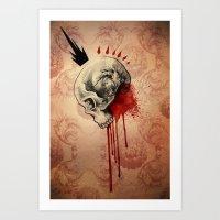Blood Art Print