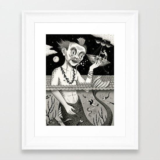 Hijacking on the High Sea Framed Art Print