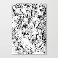 Flowing Obsessions Canvas Print