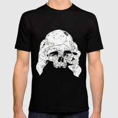 Skull In Hands Mens Fitted Tee Black SMALL