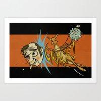 Kangaroo Attack! Art Print