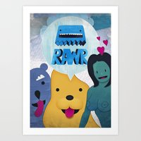 Rawr Returns! Art Print