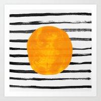 Dot / Yellow Art Print