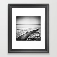 Slip away Framed Art Print