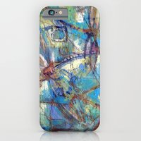 Dragonflies In Blue iPhone 6 Slim Case