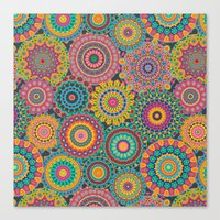 Kaleido-Eden Colors Canvas Print
