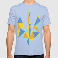 Ukraine Geometry Mens Fitted Tee Tri-Blue SMALL