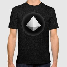 Mountain Icon Mens Fitted Tee Tri-Black SMALL