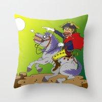 Napoleon goes rampage Throw Pillow