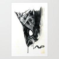 Alien Head Side Art Print