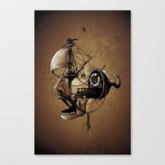 destructured pirate #Hook Canvas Print