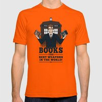 The Best Weapons In The … Mens Fitted Tee Orange SMALL
