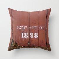 Portland Co. 1898 Throw Pillow
