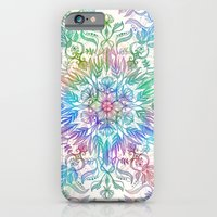 iPhone Cases featuring Nature Mandala in Rainbow Hues by micklyn