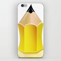 Stylized Pencil Artwork … iPhone & iPod Skin