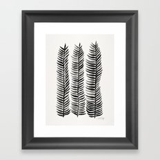 Black Seaweed Framed Art Print