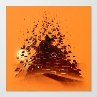 Construction of a Pyramid Canvas Print