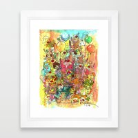 Ice Cream Animals Framed Art Print