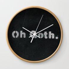 Oh goth. Wall Clock
