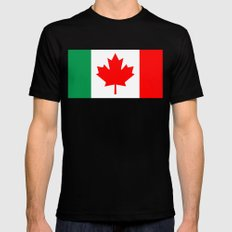 Italo Canadian Mens Fitted Tee Black SMALL