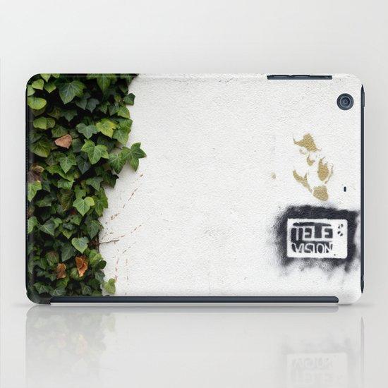 Television versus nature iPad Case