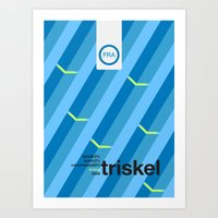 Triskel Single Hop Art Print