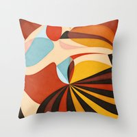 As She Moves Throw Pillow