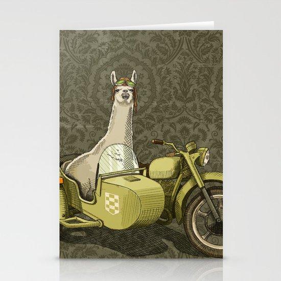 Sidecar Llama Stationery Card
