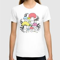 WELCOME TO MUSHROOM LAND… Womens Fitted Tee White SMALL