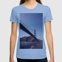 golden gate Womens Fitted Tee Athletic Blue SMALL